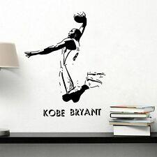 NBA sports Wall stickers NBA Lakers Kobe Bryant Black Poster Room Decor 57*80CM