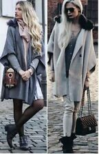 Zara Button Coats & Jackets Cape for Women