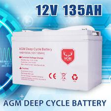 135AH AGM Battery 12V AMP Hour SLA Deep Cycle Dual Fridge Solar Power 12 VOLT