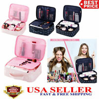 Large Make Up Storage Bag Cosmetic Jewellery Box Nail Tech Vanity Travel Case US