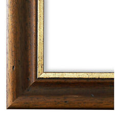 Bilderrahmen Rahmen Braun Gold Kolonial Stil Vintage Holz Foggia 4,4 - NEU