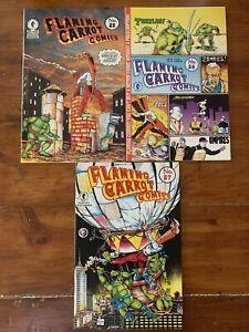Flaming Carrot Comics #25, 26 & 27 (1991) 1st Prints MCFARLANE TMNT Turtles VFNM