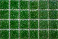 225 mat vert foncé vitrifiée verre mosaïque 20mm Tuiles A26