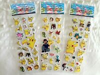 POKEMON PIKACHU STICKERS x1 SHEET BIRTHDAY PARTY LOLLY LOOT BAG BUY 5 GET 5 FREE