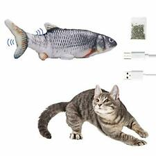 New listing Moving Fish Cat Toys, Electric Moving Realistic Wiggle Fish Catnip Grass carp