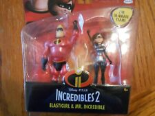 The Incredibles 2 Ultimate Team Features 4 Inch Mr. Incredible & Elastigirl NIP