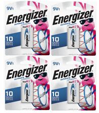 Energizer Ultimate Lithium 9V batteries = 4 TOTAL Exp. 12/2030