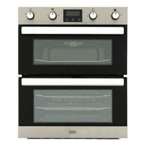 Belling BI702FPCT Stainless Steel Double Built Under Electric Oven 444444783
