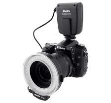 Flash Eclairage continu annulaire macro Meike FC100 pour Canon Nikon +7 bagues