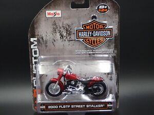 2000 FLSTF STREET STALKER HARLEY DAVIDSON MOTORCYCLE HD 1:24 SCALE DIECAST MODEL