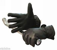 Gants moto cuir doublé LONGHORN noirs Taille S