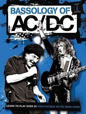Bassology of AC DC Sheet Music Bass Tab Book NEW 014003584
