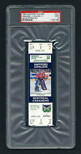 PSA 9 1994 PATRICK ROY UNUSED TICKET for the Canadiens at the Whalers