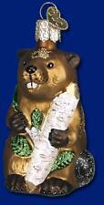 Beaver Ornament Glass Old World Christmas 12194 13