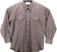 Vintage Ruddock Men's Size XLT Long Sleeve Pearl Snap Western Shirt Plaid Tall