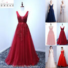 Long Lace Beaded Evening Dress Party Prom Bridesmaid Dress Formal Cocktail Gowns