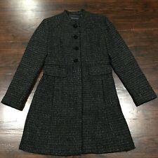 Banana Republic Recycled Wool Blend Coat Womens Sz S Embellished Lined Back Slit