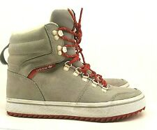 adidas Women's Neo High Top Sneakers Shoe UK 6 Gray Suede Red Laces Trainer
