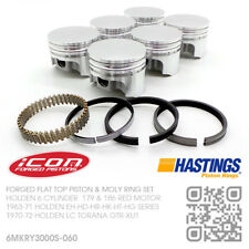"186+060"" FORGED PISTON & MOLY RING SET 6 CYL MOTOR [HOLDEN LC TORANA GTR-XU1]"