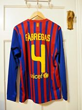 "Barcelona Nike Home L/S Shirt Small 2011-2012 - ""FABREGAS 4"""