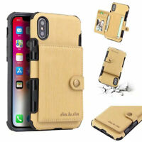 For iPhone 11 Pro Max Wallet Case XS XR X 7 8 Leather Card Holder Cover Pocket