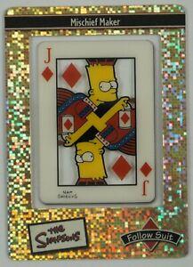 the Simpsons Filmcardz 2003 Follow Suit Ultra-Rare Foil Mischief Maker UR3 Bart
