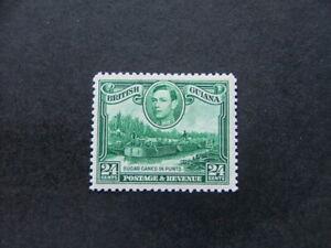 British Guiana KGVI 1938 24c blue-green SG312 MM