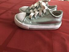 Converse Infant/ Girl's Sneakers Leather Sz 5 Teal Great Condition