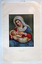 """India 1951 Calendar sample MADONA Madonna 11.5""""x18"""""""