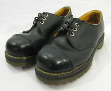 Doc Martens womens BLACK leather shoes UK 5 US 7 steel cap toe SAFETY oxford