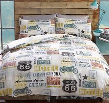 Industriel Urban American Route 66 King Taille Couette Taie d'oreiller Literie