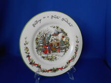 Seasonal Christmas  Plate WALKING IN A WINTER WONDERLAND Susan Wingett 8 3/4""