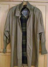 Khaki Lined Jacket Parka Stadium Coat Size S
