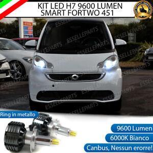 KIT FULL LED H7 6000K CANBUS LED PER LENTICOLARI SMART FORTWO 451 NO AVARIA
