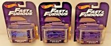3 Hot Wheels The Fast and the Furious Nissan Skyline GT-R (R34) Real Riders NISP