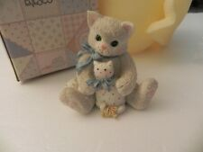 "Vintage 1994 Enesco Calico Kittens ""My Favorite Companion"" + Original Box Nice"