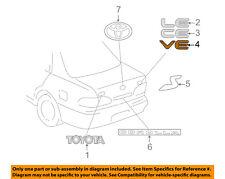 TOYOTA OEM 98-00 Corolla Trunk Lid-Emblem Badge Nameplate 754441A300