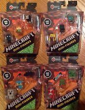 MINECRAFT MINIFIGURES 4 3 packs Netherrack SERIES 3 Lot Of 12 Figures