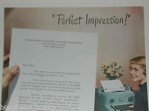 1950 IBM advertisement, IBM Electric Typewriter, Red-Haired Secretary
