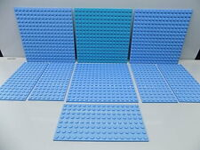 Lego 9 pc. Studded Base Plate,s Lot Friends Colors {WASHED}
