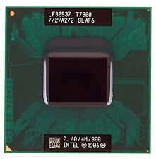 Intel Core 2 Duo t7800 2.60 GHz 4m 800 MHz dual-core socket del processore P SLAF 6