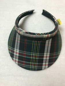 Ladies Plaid Golf or Tennis Visor One Size Fits All NEW