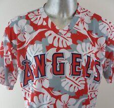Anaheim Angels Pullover Hawaiian Shirt Jersey XL 100% Polyester Promotional EUC