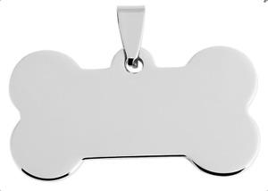 Hundemarke Knochen Tiermarke Adressanhänger Hund Katze Mit Gravur Silber Klein