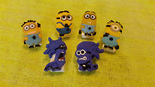 MINIONS (Good & Bad Guys) Bookmark/Paper Clips (lot of 6)!! FAST USA SHIPPING!!