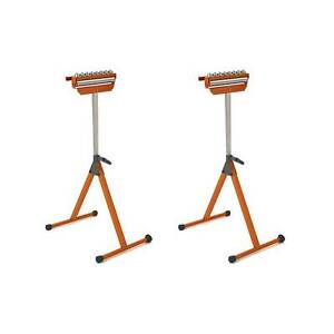 Bora Tool 11.25 Inch Ball Bearing Adjustable Pedestal Roller Workbench (2 Pack)