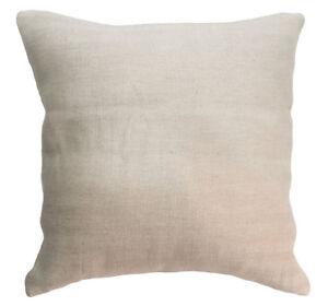 nk34a Thick Pure Linen Zig Zag Plain Khaki Cushion Cover/Pillow Case*Custom Size
