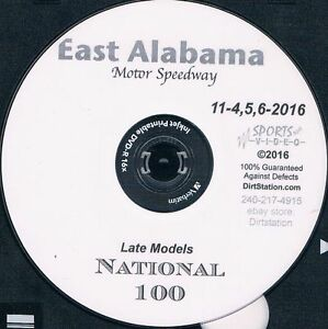 Late Models National 100 DVD From East Alabama Motor Speedway 11-4+5+6-2016