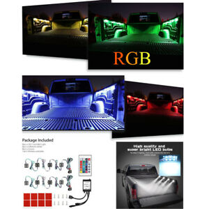 Pickup SUV Truck Bed Cargo Waterproof RGB Light LED 8PCS With Remote Control