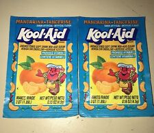 2 VTG 90's Kool - Aid Mandarina Tangerine Mix Sealed Package Packet Mandarin